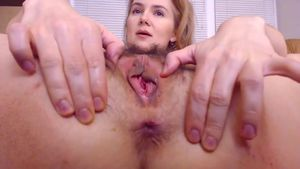 Preview Hairy Pussy And Gaping Asshole Getting Stretched