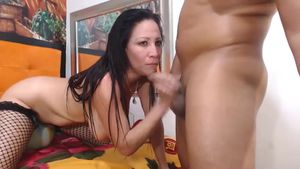 Hot Latina Blows It All
